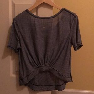 Lululemon open back shirt